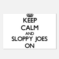 Keep Calm and Sloppy Joes Postcards (Package of 8)