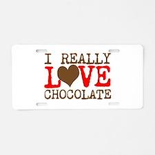 Love Chocolate Aluminum License Plate