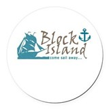 Block island Round Car Magnets