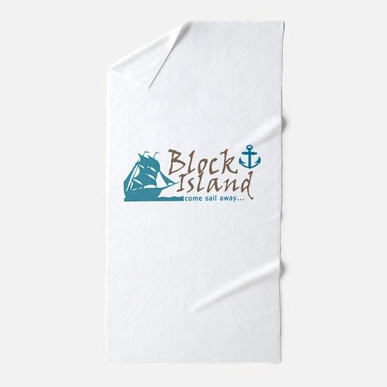 Block Island Sail Away Beach Towel