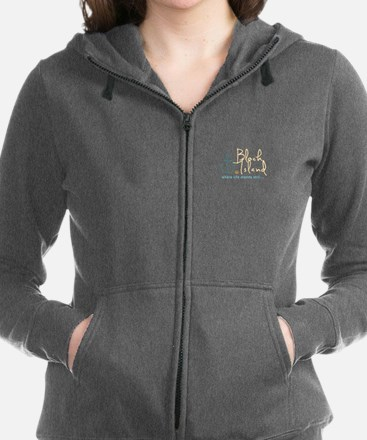 Block Island Life Stands Still Women's Zip Hoodie