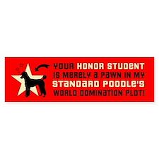 POODLE WORLD DOMINATION Bumper Bumper Sticker