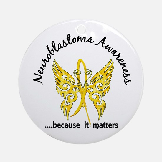 Neuroblastoma Butterfly 6.1 Ornament (Round)