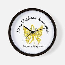 Neuroblastoma Butterfly 6.1 Wall Clock