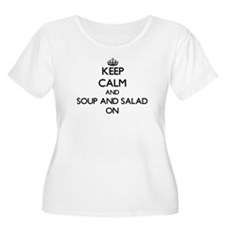 Keep Calm and Soup And Salad ON Plus Size T-Shirt