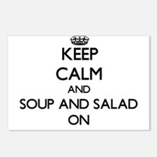Keep Calm and Soup And Sa Postcards (Package of 8)