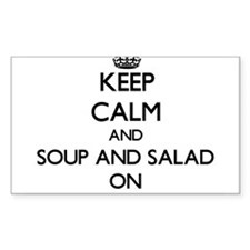 Keep Calm and Soup And Salad ON Decal