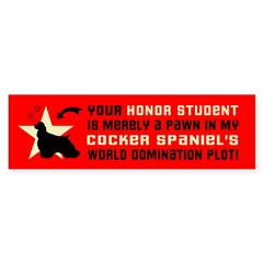Cocker Spaniel World Domination Bumper Sticker