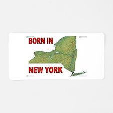 NEW YORK BORN Aluminum License Plate