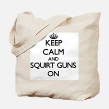 Keep Calm and Squirt Guns ON Tote Bag