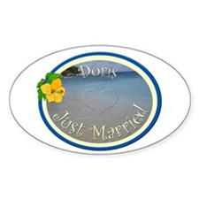 Doris Just Married Oval Decal