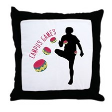 Campus Games Throw Pillow