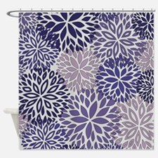 Vintage Floral Pattern Lilac Shower Curtain