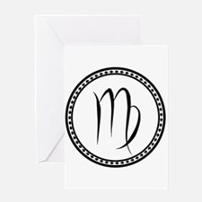 Virgo Symbol Greeting Cards