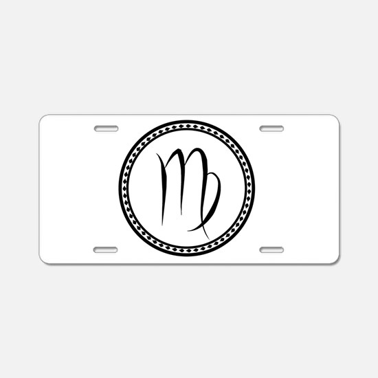 Virgo Symbol Aluminum License Plate