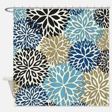 Vintage Floral Pattern Shower Curtain