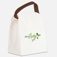 Lucky Girl Canvas Lunch Bag