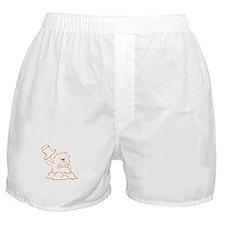 Groundhog Outline Boxer Shorts