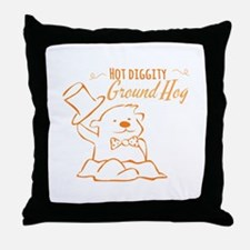 Ground Hog Throw Pillow