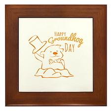 Groundhog Day Framed Tile