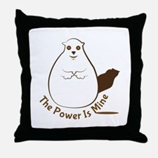 Power Is Mine Throw Pillow