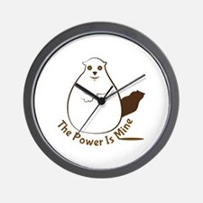Power Is Mine Wall Clock