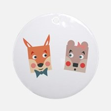 Foxes Ornament (Round)
