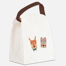 Foxes Canvas Lunch Bag
