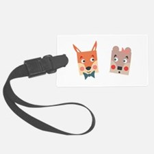 Foxes Luggage Tag