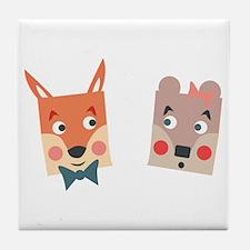 Foxes Tile Coaster