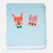 Foxes baby blanket