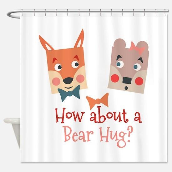 A Bear Hug Shower Curtain