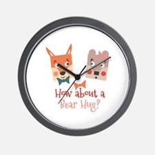 A Bear Hug Wall Clock