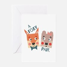 A Foxy Pair Greeting Cards