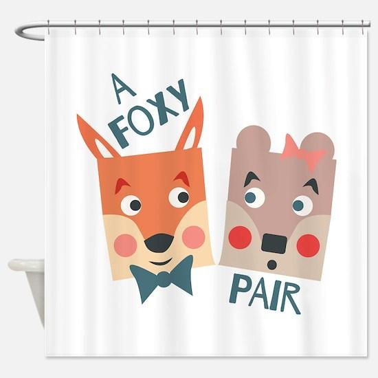 A Foxy Pair Shower Curtain