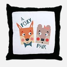 A Foxy Pair Throw Pillow