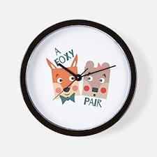 A Foxy Pair Wall Clock