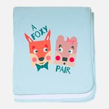 A Foxy Pair baby blanket