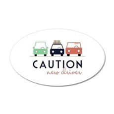 Caution New Driver Wall Decal