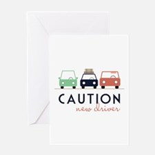 Caution New Driver Greeting Cards