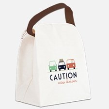 Caution New Driver Canvas Lunch Bag