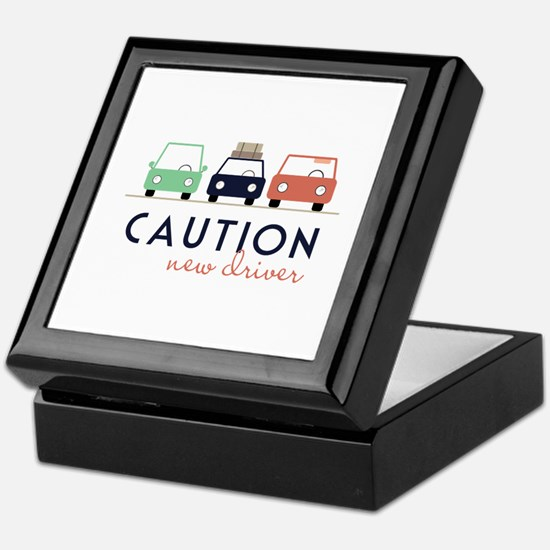 Caution New Driver Keepsake Box