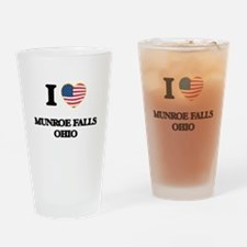 I love Munroe Falls Ohio Drinking Glass