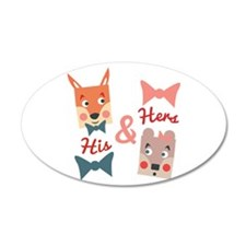 His & Hers Wall Decal