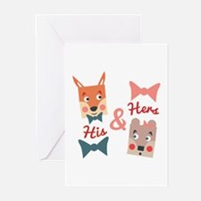 His & Hers Greeting Cards