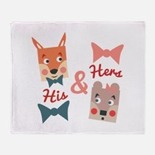 His & Hers Throw Blanket