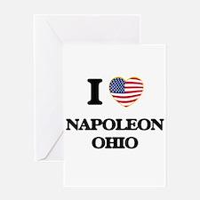 I love Napoleon Ohio Greeting Cards