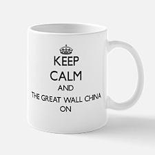 Keep Calm and The Great Wall China ON Mugs