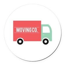 Moving Co. Round Car Magnet