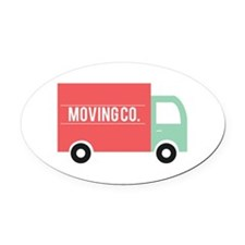 Moving Co. Oval Car Magnet